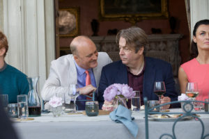 Still from the new British film The Hippopotamus