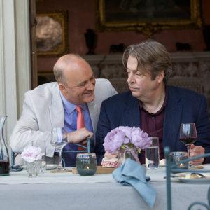 Still from the new British film The Hippopotamus